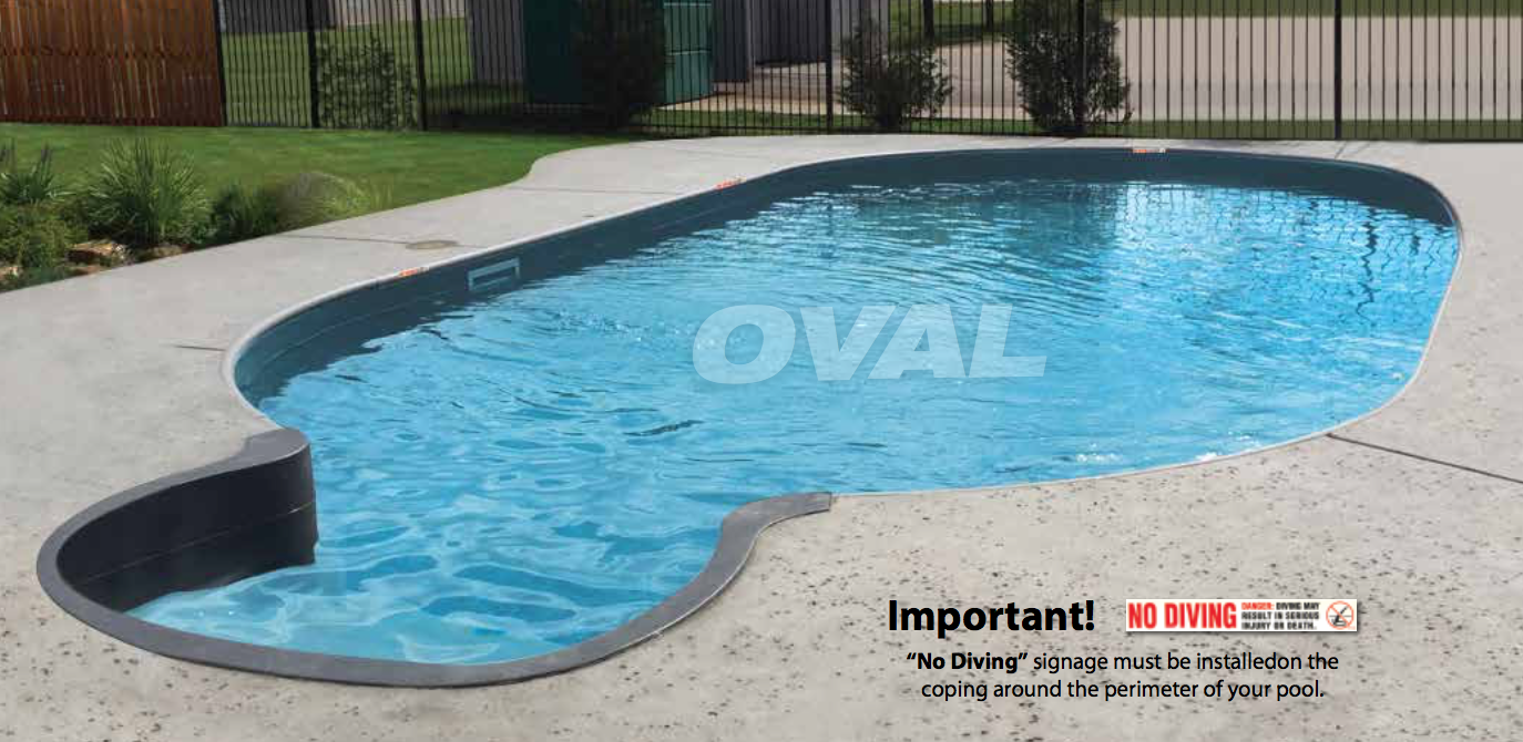 Buy and oval shaped custom above ground pool online - Inexpensive inground swimming pools ...